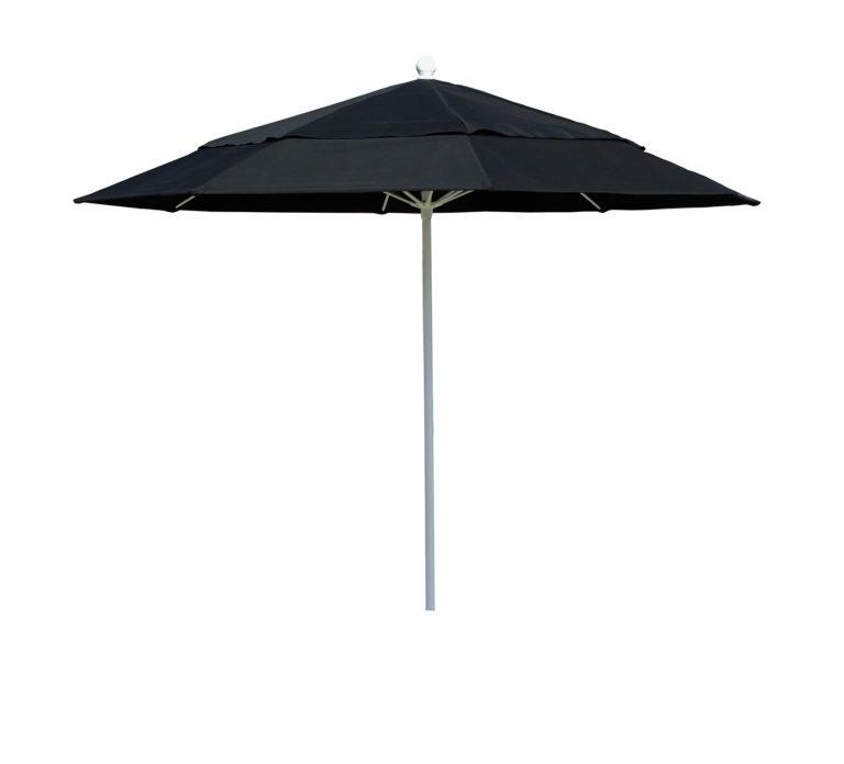FL90 - 9' Hurricane Fiberglass Market Umbrella, Manual, Vent, Awning Grade Sunbrella Fabric-8 Ribs-0