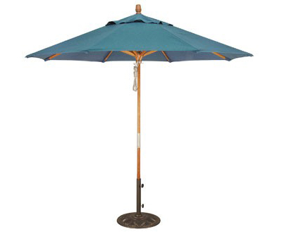 UMSB9WOOD - Summer Bay - 9' Market Umbrella, Wood Frame, Manual, Vent-0