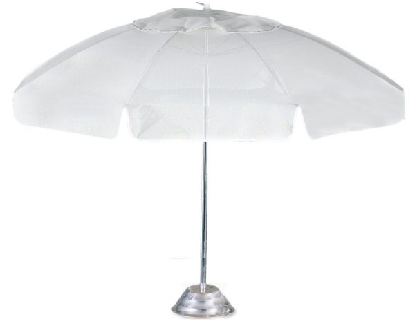 7830MV - Garden - 7.5'- 8 Fiberglass Rib(white) Aluminum Frame Conventional, Manual, Vent -0