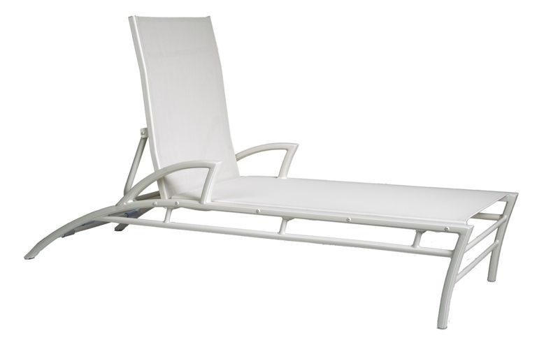 3DXSL-Regatta Stacking Chaise Lounge W/Arms-0