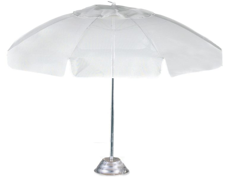 UMBCH7.5FG - Beach Umbrella 7.5' 8 Fiberglass Rib, Aluminum Frame, Pointed Pole Conventional, Manual, Vent.-0