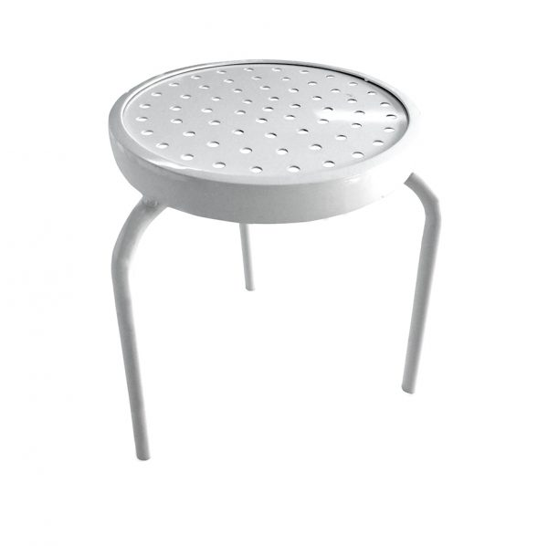 """416AL 16"""" Punch Aluminum Top Stacking End Table-0"""