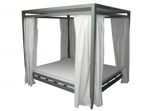 VIP-CAB - VIP Day Bed Cabana With Functional Curtains-0