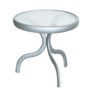 """A5018M - 18"""" End Table - Acrlylic Top-0"""