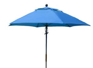 FL90-6 - 9' Tradewinds Fiberglass Market Umbrella, Manual, Vent, Awning Grade Sunbrella Fabric - 6 Ribs-0