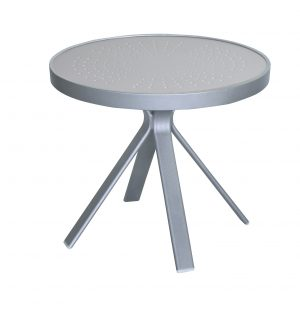 "5320AL - 20"" Round Side Table Aluminum Top-0"