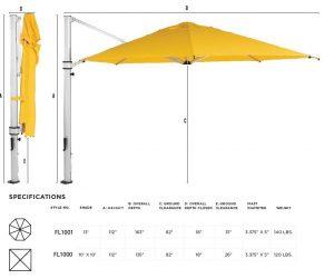 Floridian Cantilever Series Umbrella - Commercial Grade-1069